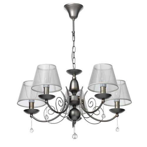 Lampa wisząca Gloria Elegance 5 Srebrny - 328010705