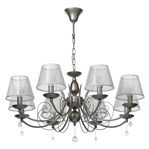 Lampa wisząca żyrandol Gloria Elegance 8 Srebrny - 328010808