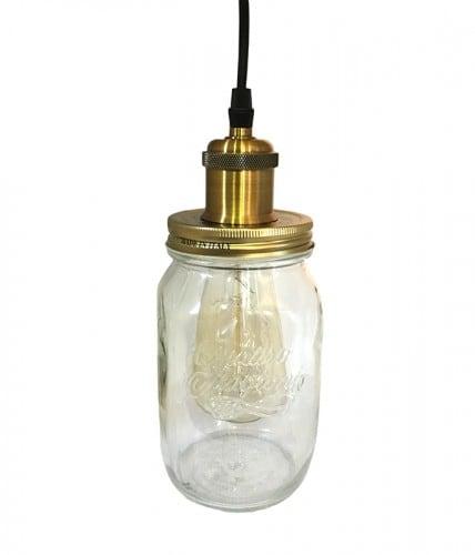 Lampa Wisząca Słoik Loft Jar'o'Light Duży E27