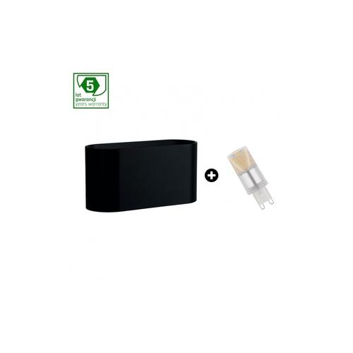 Pakiet 5 Lat Gwarancji : Oprawa Squalla G9 Czarna+  Led G9 4w Ww ( Slip006010 + Woj+14433 )