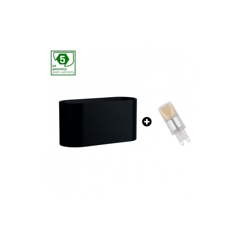 Pakiet 5 Lat Gwarancji : Oprawa Squalla G9 Czarna+  Led G9 4w Nw ( Slip006010 + Woj+14434 )