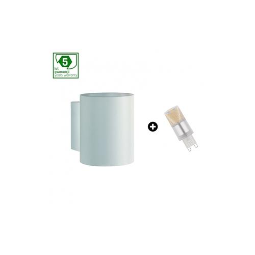 Pakiet 5 Lat Gwarancji : Oprawa Squalla G9 Tuba     Biała + Led G9 4w Cw ( Slip006011 + Woj+14435 )