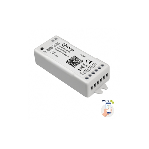 Kontroler Do Pasków Led Rgbw+Cct+Dimm 12/24v Dc 120w/240w Wi-Fi Spectrum Smart