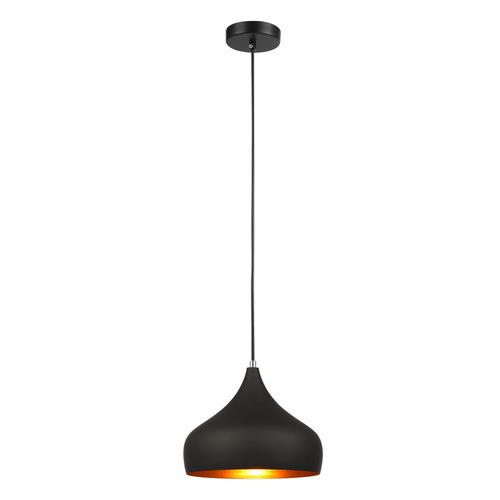 Czarna Lampa Wisząca Salvio E27