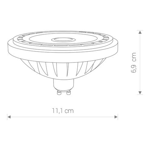 REFLECTOR LED COB 15W, 4000K, GU10 ,ES111, ANGLE 36