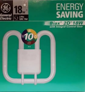 GE Biax 2D Integral 18W/830 GRZ10d warm white