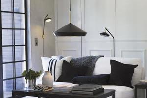 Lampa ścienna Geometri  Czarny / Gold 53cm - PR Home small 1