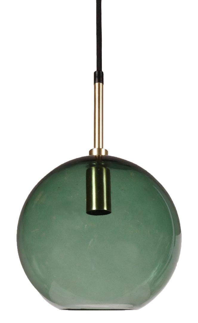 Lampa wisząca mała Milla Small Pendant Złoto / zielony 20cm - PR Home