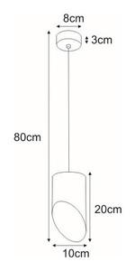 Lampa wisząca K-4240 z serii ALU II BLACK small 1