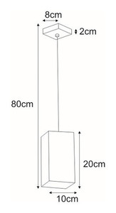 Lampa wisząca K-4211 z serii KUBIK WHITE small 1