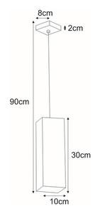 Lampa wisząca K-4212 z serii KUBIK WHITE small 1