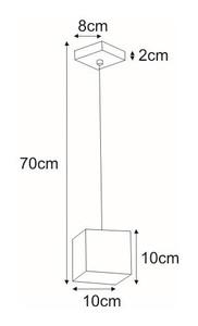 Lampa wisząca K-4250 z serii KUBIK BLACK small 1