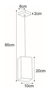 Lampa wisząca K-4251 z serii KUBIK BLACK small 1