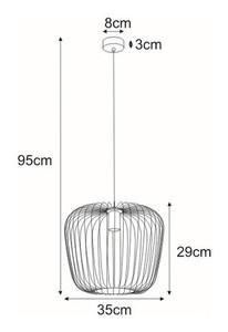 Lampa wisząca K-4103 z serii EDEN small 1