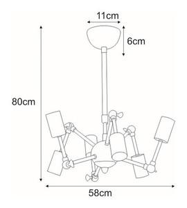 Lampa sufitowa K-8040-6 z serii ZARA small 1