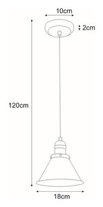 Lampa wisząca K-8038-1 z serii MORENO small 1