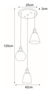 Lampa wisząca K-8036B-3 z serii SAMANTA small 1
