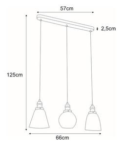 Lampa wisząca K-8036A-3 z serii SAMANTA small 1