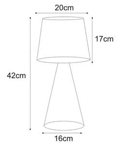 Lampka stołowa K-4642 z serii SOUL BLACK small 1