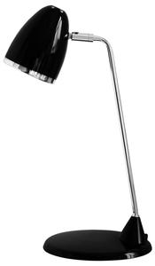 Lampa biurkowa Lucy 230V/25W E27 czarny/srebrny