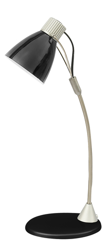 Lampa biurkowa Rebecca 230V/25W E14 czarny/srebrny