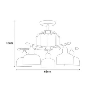 Lampa sufitowa K-JSL-1208/5 z serii DORO small 1