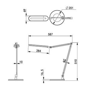 Lampka biurkowa K-BL1221 czarna z serii ALETTE small 1
