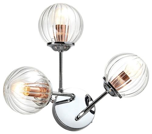 Best Lampa Kinkiet 3X40W E14 Chrom+Miedź
