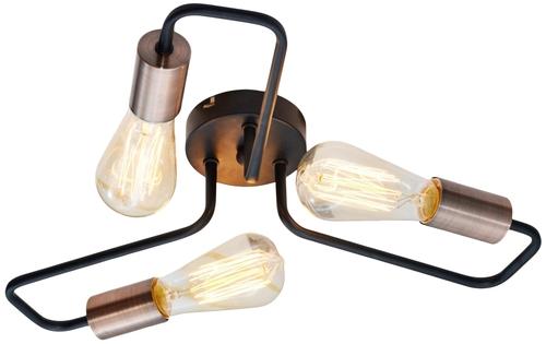 Herpe Lampa Sufitowa 3X60W E27 Czarny