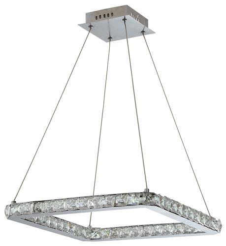 Lords Lampa Wisząca Kwadrat 42X42 24W Led Chrom