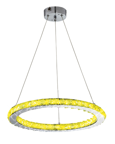Lords Lampa Wisząca Okrągły Pojedynczy 40 12W Led Rgb Chrom Z Pilotem