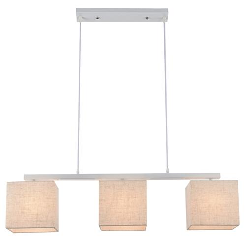 Boho Lampa Wisząca 3X40W E27 Biały Abaż. Len
