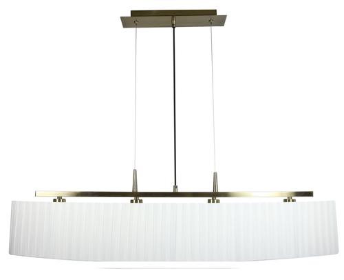 Berg Lampa Wisząca 4X40W E14 Patyna Abażur Biały
