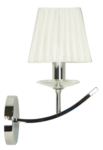 Valencia Lampa Kinkiet 1X40W E14 Chrom 15X36