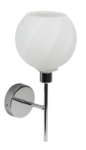 Raul Lampa Kinkiet 1X40W E14 Chrom Klosz Biały