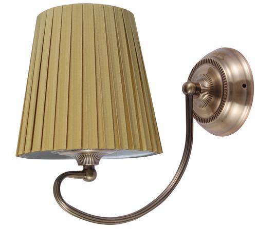 Mozart Lampa Kinkiet 1X60W E27 Patynowa Miedź Miodowy