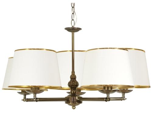 Grand Lampa Wisząca 5X40W E14 Patyna
