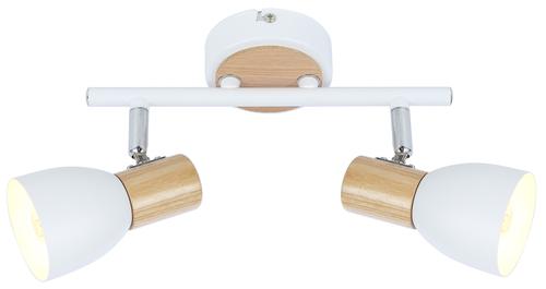 Anabel 2 Lampa Sufitowa Listwa 2Xmax25W E14 Biały + Drewno