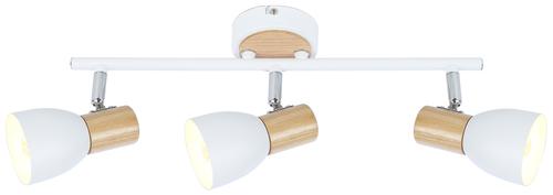 Anabel 2 Lampa Sufitowa Listwa 3Xmax25W E14 Biały + Drewno