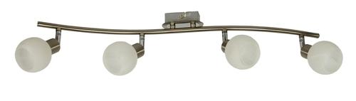 Alabaster Lampa Sufitowa Listwa 4X40W G9 Satyna+Chrom