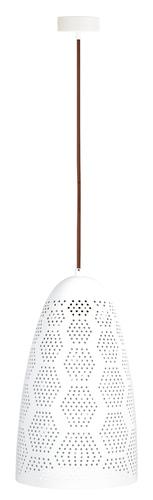 Bene Lampa Wisząca 20/33 Stożek 1X60W E27 Ażurowy Biały
