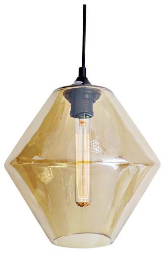 Bremen Lampa Wisząca 20 1X60W E27 Klosz Dymiony + Żarówka