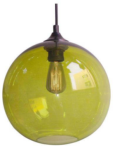 Edison Lampa Wisząca 25 1X60W E27 Zielony + Żarówka