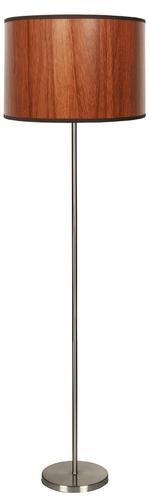 Timber Lampa Podłogowa 1X60W E27 Dąb+Abażur O Tym Samym Indeksie