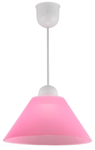 Fama Lampa Wisząca Plastik E27 1X60W Różowy Promocja