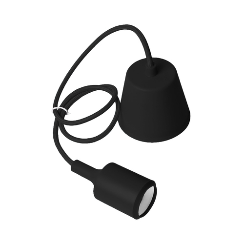 Lampa sufitowa Moderna E27 60W czarny