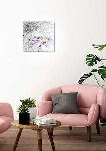Spring Lampa Sufitowa Plafon 30X30 1X60W E27 Fioletowy small 1