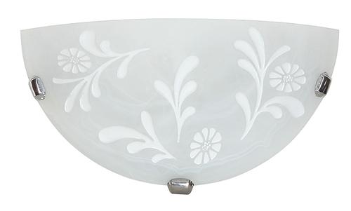 Itaka Lampa Sufitowa Plafon 1/2  1X60W E27 Biały