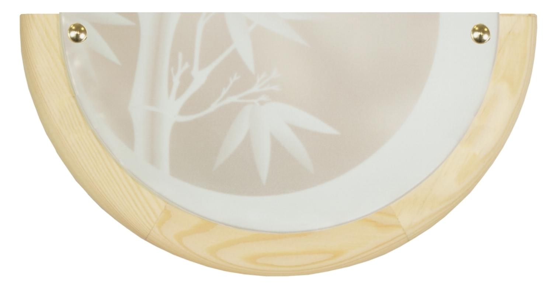 Bamboo Lampa Sufitowa Plafon 0,5 Drewno Standard 1X60 W E27 Sosna