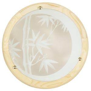 Bamboo Lampa Sufitowa Plafon 30 Drewno Standard 1X60 W E27 Sosna small 0